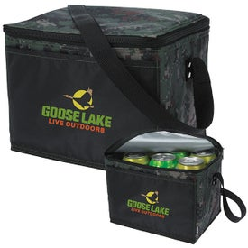 Koozie Six-Pack Kooler Camouflage Printed with Your Logo