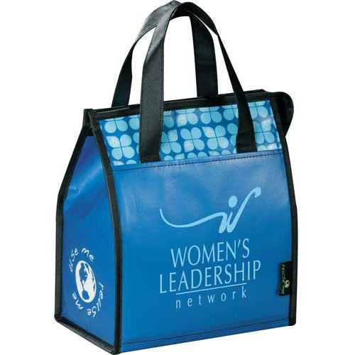 Blue Laminated Non-Woven Lunch Bag