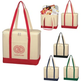 Large Cotton Canvas Kooler Bag