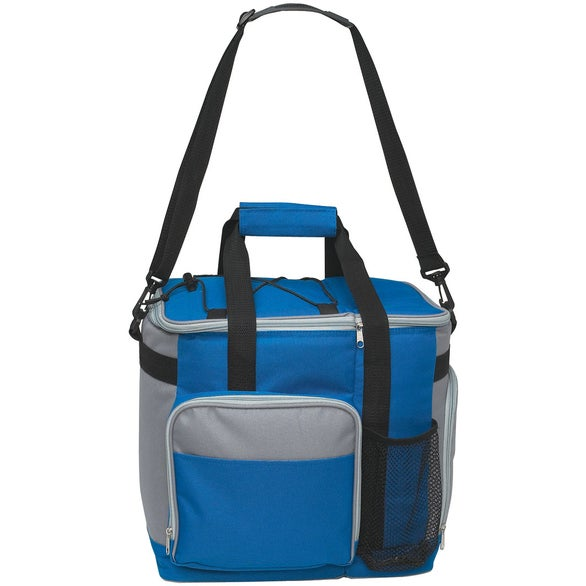 Royal Blue / Gray Large Insulated Kooler Tote Bag