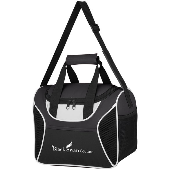 Black Mesh Accent Cooler Bag