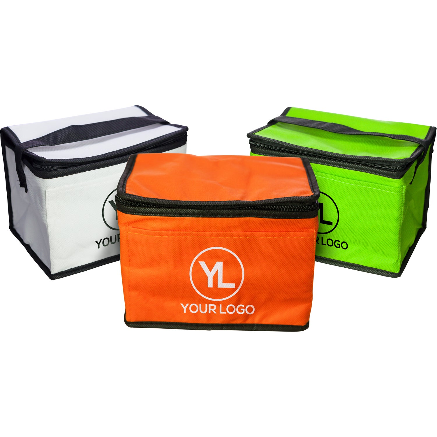 6 Pack Cooler ~ Non woven cooler bag pack promotional coolers ea