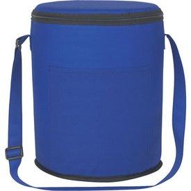 Monogrammed Non-Woven Round Kooler Bag