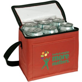 Nylon 6-Pack Cooler Printed with Your Logo