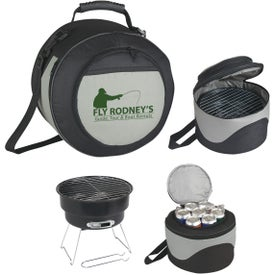 Portable BBQ Grill and Kooler Set