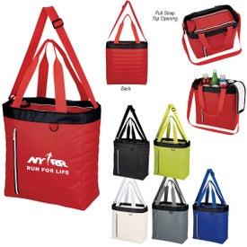 Quilted Slim Line Cooler Tote Bag
