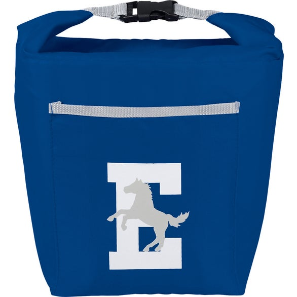 Blue Rolltop 6 Can Lunch Cooler