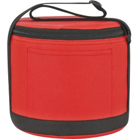 Imprinted Round Insulated Non-Woven Kooler Bag