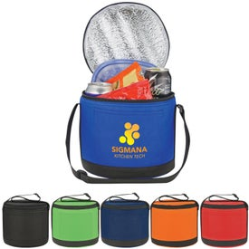 Printed Round Insulated Non-Woven Kooler Bag