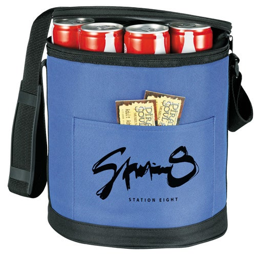 Round Styrofoam Cooler ~ Round pop up insulated cooler promotional coolers ea