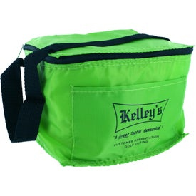 Insulated 6 Pack Lunch Cooler Printed with Your Logo