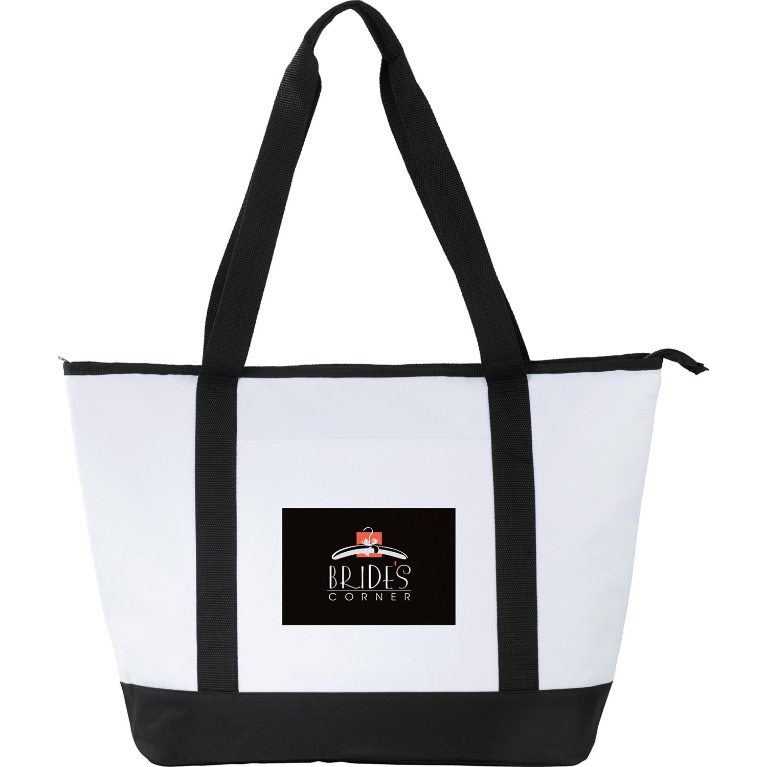 White Black Stay Cool Event Cooler Tote Bag Customized