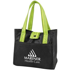 Striped Drawstring Lunch Bag for Your Organization