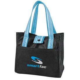 Striped Drawstring Lunch Bag for Marketing