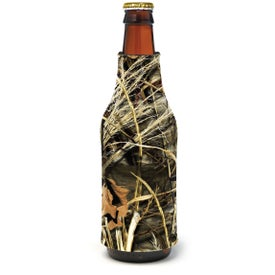 Imprinted Trademark Camo Bottle Coolie