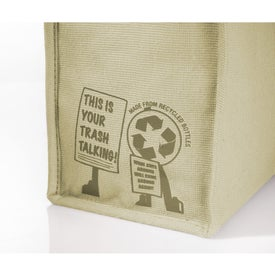 Trash Talking Recycled Lunch Cooler with Your Logo