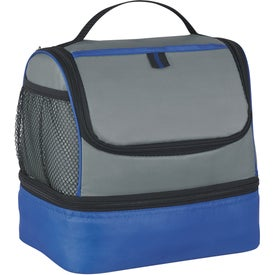 Two Compartment Lunch Pail Cooler Bag with Your Logo
