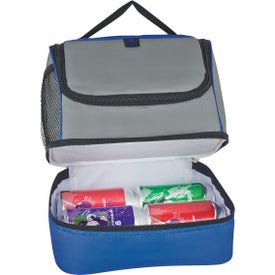 Two Compartment Lunch Pail Cooler Bag Printed with Your Logo