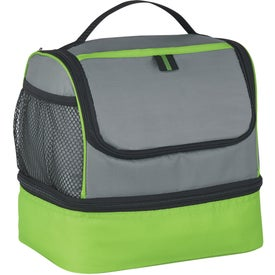 Two Compartment Lunch Pail Cooler Bag for Marketing