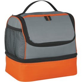 Two Compartment Lunch Pail Cooler Bag with Your Slogan
