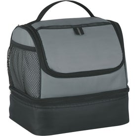 Custom Two Compartment Lunch Pail Cooler Bag