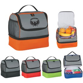 Customized Two Compartment Lunch Pail Cooler Bag