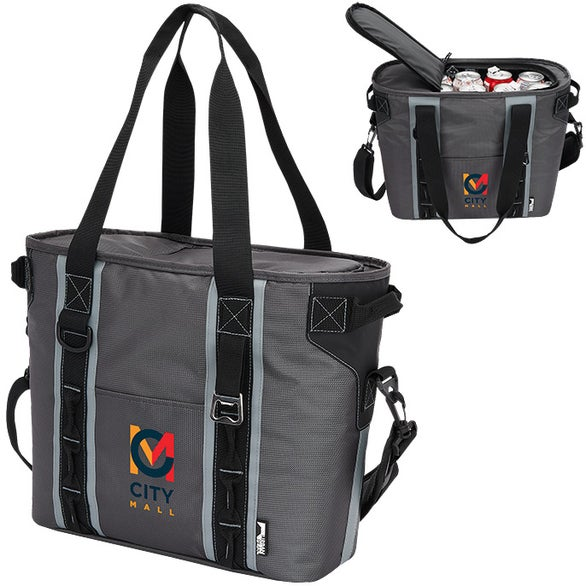 Gray / Black Urban Peak 24 Can Cooler Bag