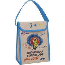 Promotional V Natural Kraft Lunch Bag