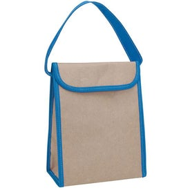 V Natural Kraft Lunch Bag Printed with Your Logo