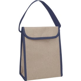 Printed V Natural Kraft Lunch Bag
