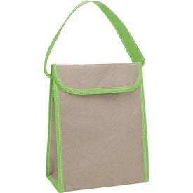 Logo V Natural Kraft Lunch Bag