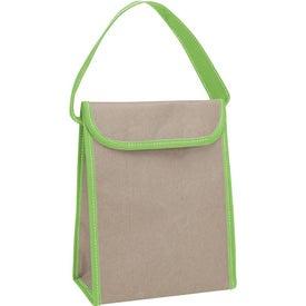 Logo V Natural Kraft Lunch Bag