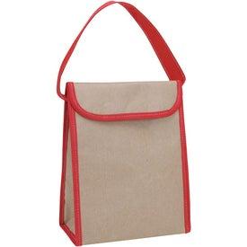 Printed V Natural Kraft Lunch Bag