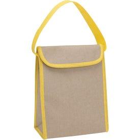 Personalized V Natural Kraft Lunch Bag