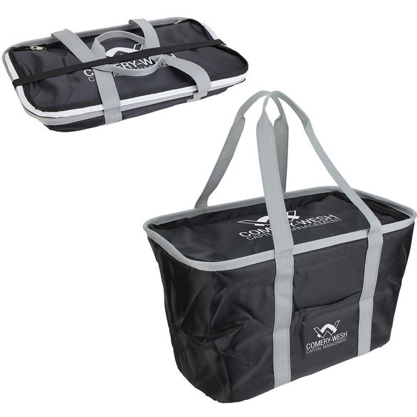 Black Venture Collapsible Cooler Bag