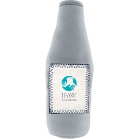 Whiteboard Stubby Bottle Cooler with Your Logo