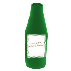 Whiteboard Stubby Bottle Cooler Imprinted with Your Logo
