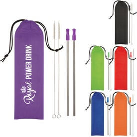 2-Pack Stainless Steel Straw Kit