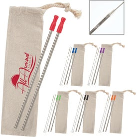 2-Pack Stainless Straw Kits with Cotton Pouch