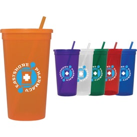 Jewel Tumbler with Lid and Straw (32 Oz.)