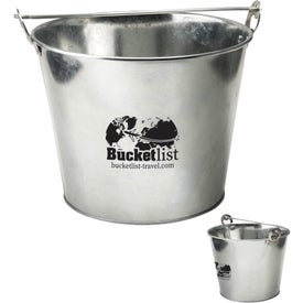 5 Quart Galvanized Ice Bucket with Bottle Opener
