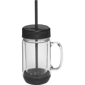 Accent Color Mason Jar Mug (26 Oz.)
