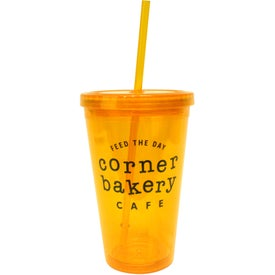 Customized Acrylic Tumbler with Matching Straw