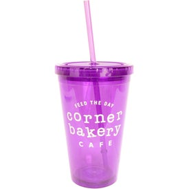 Acrylic Tumbler with Matching Straw for Your Church