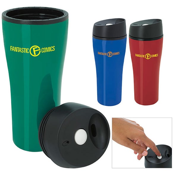 Acrylic Tumbler with Press Button Lid