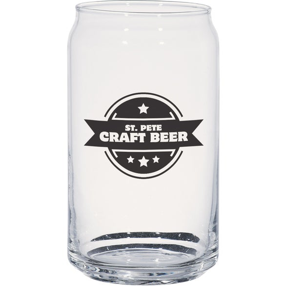 Clear Ale Glass Can