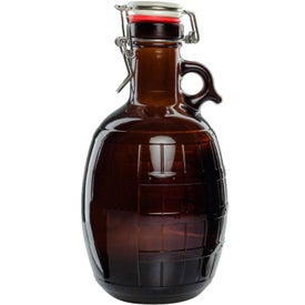 Amber Glass Barrel Growler (2 L)