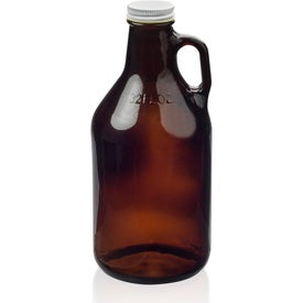 Amber Glass Beer Growlers (32 Oz.)