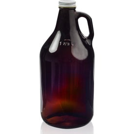 Amber Glass Beer Growler (64 Oz.)