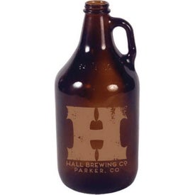 Amber Glass Growler (64 Oz.)